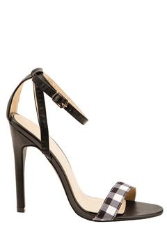 Have2have Gingham sandaletter, Starling5 Svart, vit Bubbleroom.se