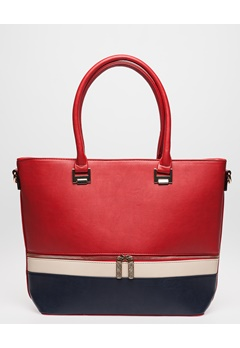 Have2have Handväska, Citti Röd, blå, offwhite Bubbleroom.se