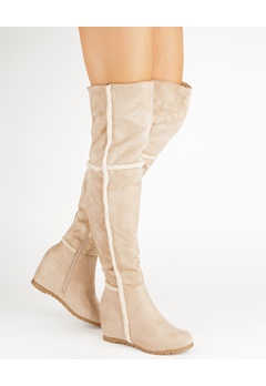 Have2have Over the knee boots, Husky Beige Bubbleroom.eu