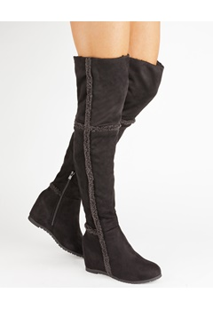 Have2have Over the knee boots, Husky Black Bubbleroom.eu