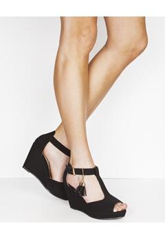 Have2have Sandaletter med kilklackar, Wooz Svart Bubbleroom.se
