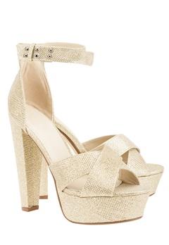 Have2have Sandaletter med platåsula, Raya4 Guld Bubbleroom.se