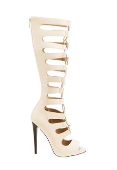 Have2have Sandaletter med snøring, Serena Beige Bubbleroom.no
