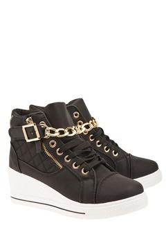 Have2have Sneakers med guldkedja, June Svart Bubbleroom.se