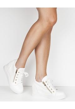 Have2have Sneakers med kilklack, Whoopy Hvit Bubbleroom.no