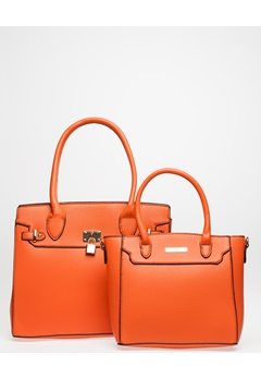 Have2have Två Handväskor, Collen Orange Bubbleroom.se
