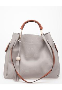 Have2have Väska, Daga Grå med bruna detaljer. Bubbleroom.se