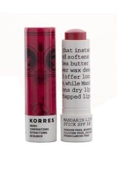 KORRES KORRES Lipbutter SPF15 Rose (6gr)  Bubbleroom.fi