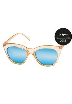 Le Specs Le Specs Halfmoon Magic Crystal Sand Ice Blue Revo Miror Lens  Bubbleroom.se