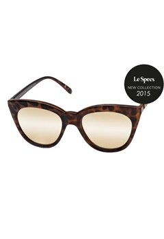 Le Specs Le Specs Halfmoon Magic Tortoise Gold Revo Miror Lens  Bubbleroom.se