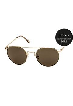 Le Specs Le Specs Instinct Gold Khaki Mono Lens  Bubbleroom.se