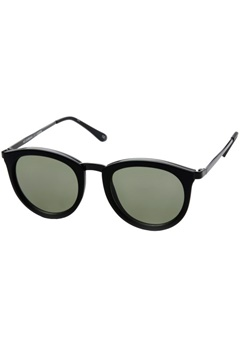 Le Specs Le Specs No Smirking Black Rubber Khaki Mono Lens  Bubbleroom.se