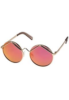 Le Specs Le Specs Wild Child Gold Pink Revo Mirror Lens  Bubbleroom.se