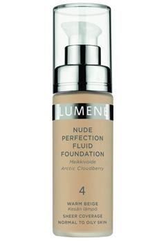 Lumene Lumene Nude Perfection Fluid Foundation - 4 Warm Beige  Bubbleroom.se