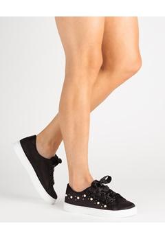 Mayline Sneakers, Fay Svart Bubbleroom.se