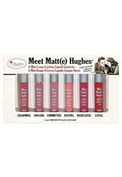 theBalm Thebalm Meet Matte Hughes Set - 6 Mini Long-Lasting Lipstick  Bubbleroom.se