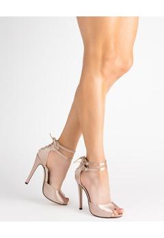 Truffle Korkeakorkoiset kengät, Rita120 Champagne Bubbleroom.fi
