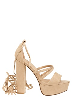 Truffle Lace Up Sandaletter, Julia Beige Bubbleroom.se