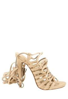 Truffle Lace Up Sandaletter, Rita99 Beige Bubbleroom.no