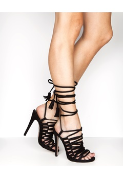 Truffle Lace Up Sandaletter, Rita99 Svart Bubbleroom.no