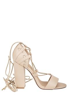 Truffle Lace Up Sandaletter, Vela47 Ljust beige Bubbleroom.se