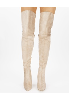 Truffle Over the knee boots, Faye3 Beige Bubbleroom.eu