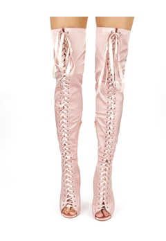Truffle Over the knee boots, Wham2 Pink Champagne Bubbleroom.eu