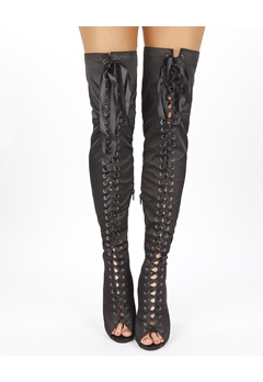 Truffle Over the knee boots, Wham2 Black Bubbleroom.eu