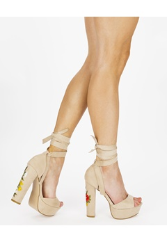 Truffle Heeled sandals, Julia61 Beige Bubbleroom.eu