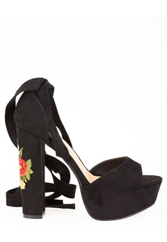 Truffle Heeled Sandals, Julia61 Black Bubbleroom.eu
