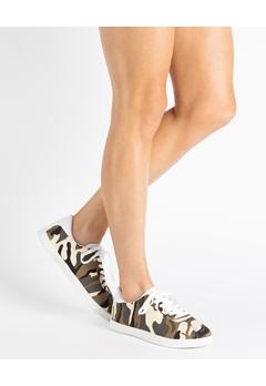 Truffle Sneakers, Fang Beige, brun, grønn, hvit Bubbleroom.no