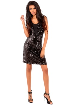 VILA Leeshi Dress Black Bubbleroom.se