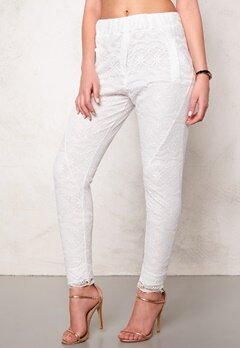 2nd One Miley 070 Pants White Scallop Bubbleroom.se