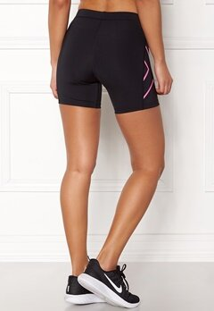 2XU Core Compression Shorts Black/Fluro Pink Bubbleroom.se