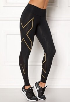 2XU MCS Run Compression Black/Gold logo Bubbleroom.se