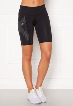 2XU Mid-Rise Comp Shorts BLK/DRF Black/Dotted Bubbleroom.se