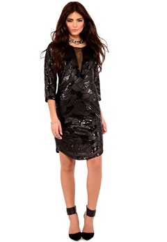 DRY LAKE Celine Dress Black Bubbleroom.se