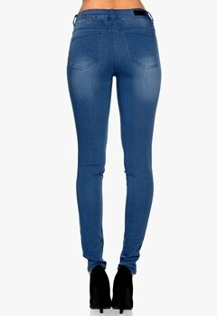 Pieces Just Jute Washed Legging Medium Blue Denim Bubbleroom.se