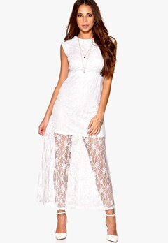 Rut & Circle Lina Dress 002 Optical White Bubbleroom.no