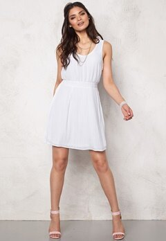 VERO MODA Grape Mini Dress Bright White Bubbleroom.no