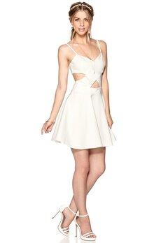 WYLDR In love dress Ivory Bubbleroom.se