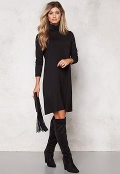 VILA Officiel Rollneck Dress Black Bubbleroom.no