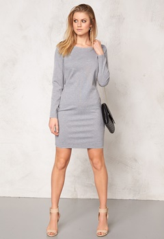 b.young Regine Dress Med. grey melange Bubbleroom.se
