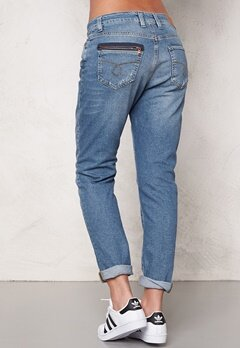 OBJECT Antifit Ally Zip Jeans Medium Blue Denim Bubbleroom.fi
