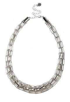 Pieces Vivo Necklace 3 Silver Colour Bubbleroom.fi