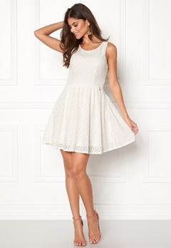 ONLY Line fairy lace dress Whisper White Bubbleroom.se