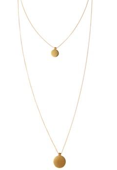 Pieces Bree Necklace Gold Bubbleroom.se