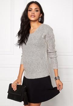 ONLY Bretagne L/S Pullover Light Grey Melange Bubbleroom.se