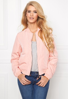 Mixed from Italy Front Zip Bomber Jacket Pink Bubbleroom.se