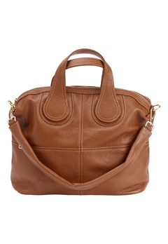 Mixed from Italy Leather Tote Camel Bubbleroom.se